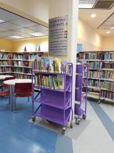 עגלת ספרים גבוהה 4 קומות (2)